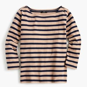 J crew structured boatneck striped T-shirt